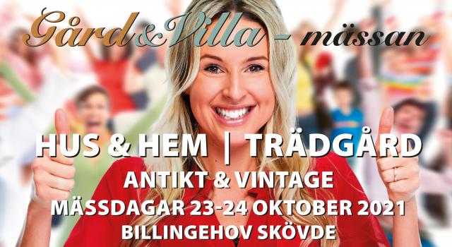 INSPIRATION.Den 23 och 24 oktober är det dags för Gård & Villa-mässan för hem och trädgård. Plats: Billingehov i Skövde.