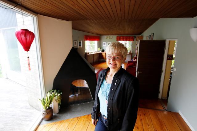 ARKITEKTRITAT. – Det är ett väldigt speciellt hus, men samtidigt praktiskt, säger Monica Green. Vi är en av de familjer som bott längst här.
