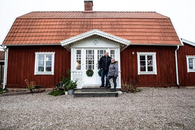 ADVENTSFINT.I fina Kvarnegården bor Carina Bergqvist och Magnus Lundell som båda har en förkärlek för att ta tillvara det gamla.