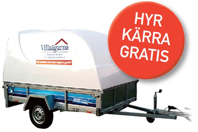 SLÄPKÄRROR. På 6 orter i Skaraborg finns släpkärror att låna utan kostnad för Villaägarnas medlemmar.